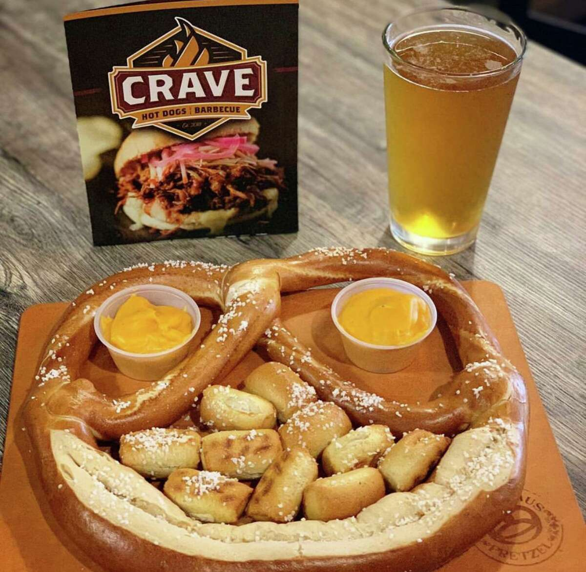 Crave Hot Dogs & Barbecue will open at 14303 E. Sam Houston Parkway N., Ste. 800, Houston, in mixed-use development Westlake Marketplace in late October.