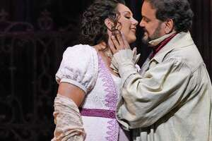 """Tosca"":  Opera San Antonio opens its 2019-'20 season with Puccini's ""Tosca,"" in which the title character must contend with the efforts of a corrupt police chief to tear apart her relationship. ""The story is non-complicated,"" said Jennifer Rowley, who plays the title role opposite Rafael Davila, right. ""It's not one of those 5-hour long Wagner operas where you're like, 'Who's doing what now? What's happening?' This is a very simple but intricately woven story that honestly makes great TV episode."" 