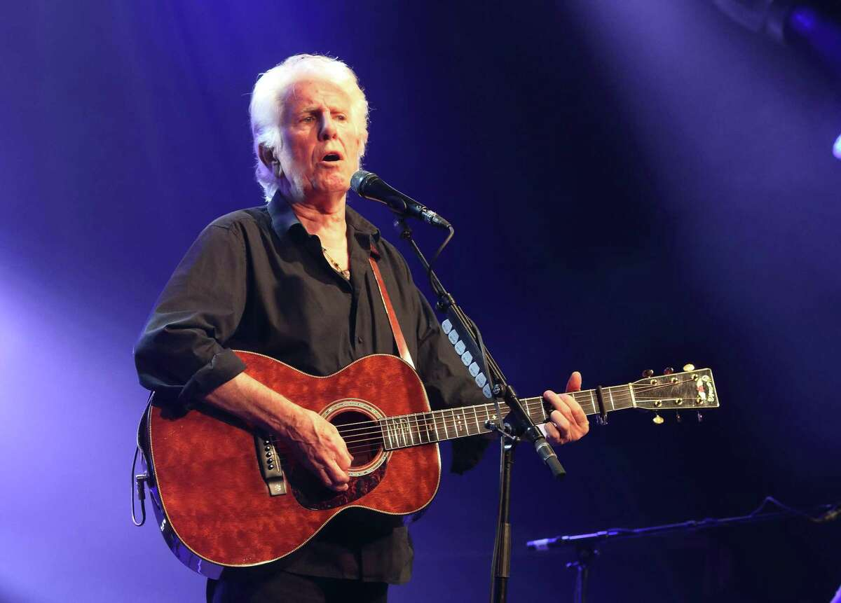 Graham Nash in a recent concert in England.