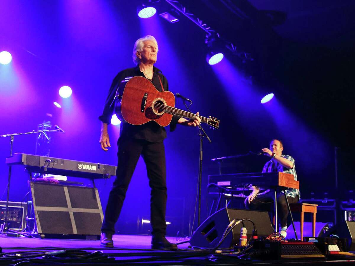 Graham Nash in a recent performance in England.