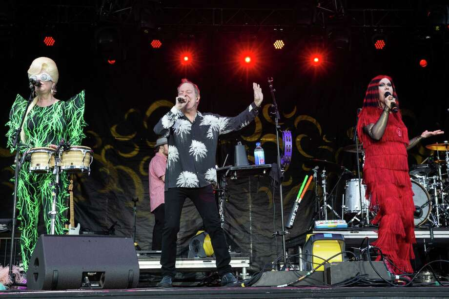 Cindy Wilson, Fred Schneider and Kate Pierson of the B-52's perform in Texas in May. Photo: Suzanne Cordeiro / AFP/Getty Images / AFP