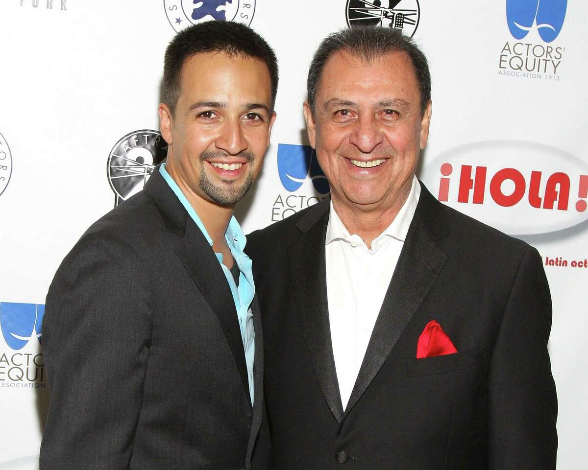 Emilio Delgado, right, and Lin-Manuel Miranda at the 11th annual HOLA Awards ain 2010.