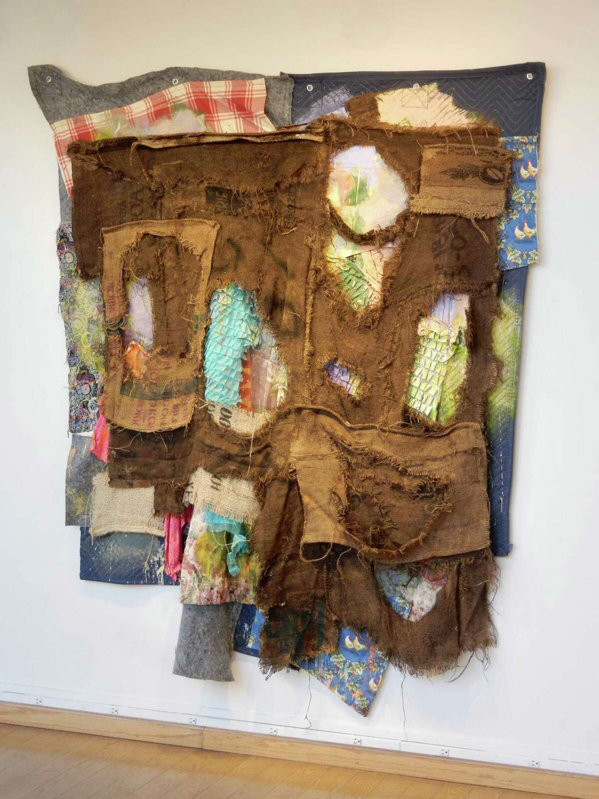 Alan Neider's sewn fabric abstractions follow a progression of creative moves.