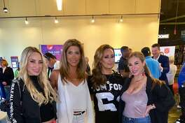 The local reality cast of Bravo's Texicanas reunite with Posh Boss producers Sarah Lucero and Karen Grace. Pictured: Penny Ayarzagoitia and Mayra Farret.