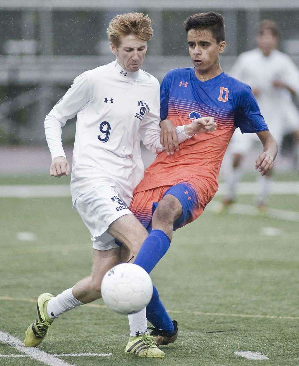 Liam McLaughlin (left) is one of the top returnees for the Wilton boys soccer team.