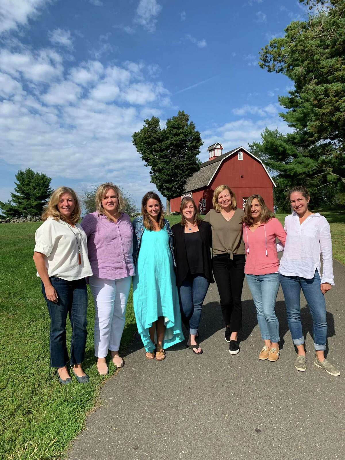 Some of Ambler Farm Day's committee chairs are, from left, Amy Foodman, Laurie Musilli, Laura Guzewicz, Amy Palma, Debbie Corrigan, Lisa McGorty and Margo Silvian. Ambler Farm Day is Sept. 22, at 257 Hurlbutt Street.