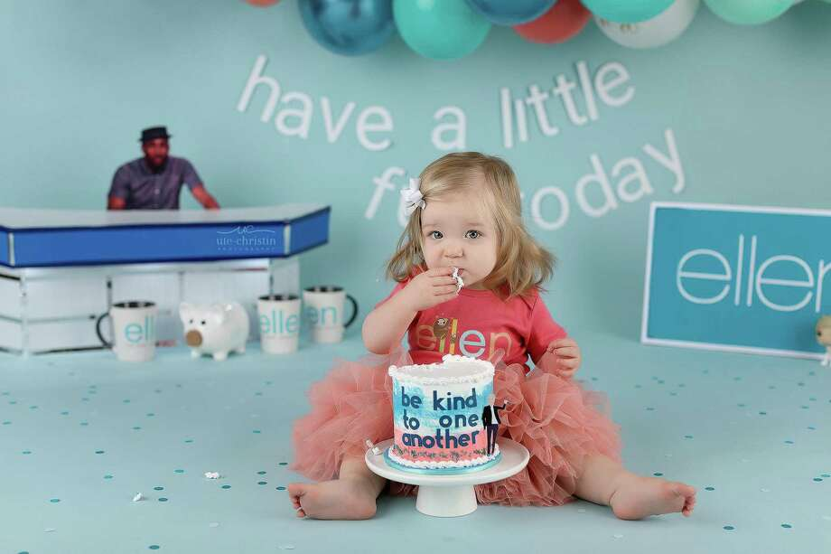 Ariella,a 1-year-old Milford girl, was the featured cake smasher featured on the Ellen DeGeneres show and photographed by Ute-Christin Cowan. Photo: Ute-Christin Photography.