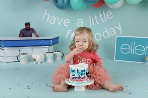 Ariella,a 1-year-old Milford girl, was the featured cake smasher featured on the Ellen DeGeneres show and photographed by Ute-Christin Cowan.