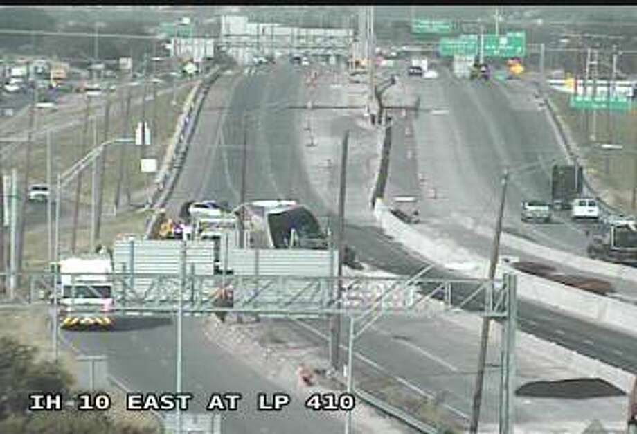 An 18-wheeler crash has temporally closed all eastbound lanes on Interstate 10 near WW White Road Friday morning, according to the Texas Department of Transportation. Photo: TxDOT