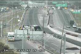 An 18-wheeler crash has temporally closed all eastbound lanes on Interstate 10 near WW White Road Friday morning, according to Texas Department of Transportation.
