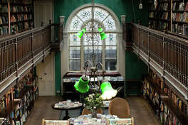 The interior of Daunt Books Marylebone.