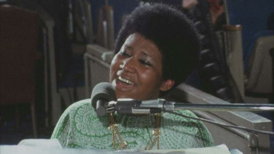 "Aretha Franklin, as seen in the documentary ""Amazing Grace,"" shot in 1972 during a live recording session for her double-platinum gospel album of the same name.. Photo: Amazing Grace Film LLC / Contributed Photo"