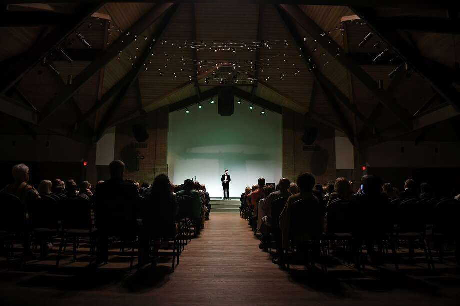 Emmet Cahill, an award-winning Irish tenor and a principal singer with the Irish music show Celtic Thunder, performs a concert at St. Ignatius of Loyola Catholic Church in Spring on Sept. 11, 2019. Photo: Jerry Baker, Houston Chronicle / Contributor / Houston Chronicle
