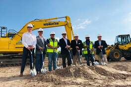 Jackson Shaw and CBRE hosted a ground breaking at the Parc 59 industrial development near Bush Intercontinental Airport in Humble on Sept. 12, 2019.
