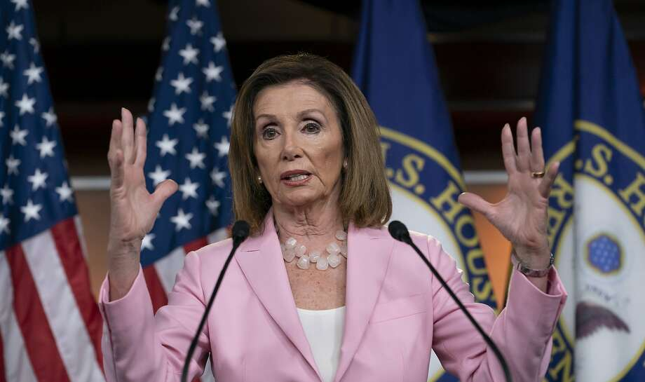 House Speaker Nancy Pelosi mostly fended off questions about impeachment at her weekly news conference in Washington. Photo: J. Scott Applewhite / Associated Press