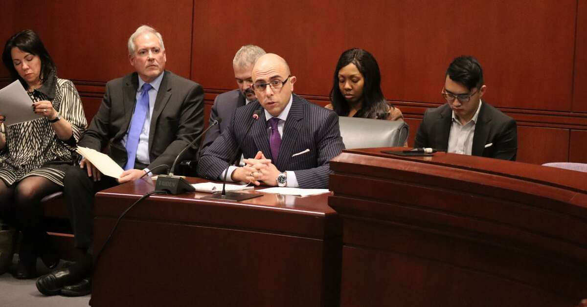 State Rep. Jason Perillo testified on behalf of the House Republican Caucus on Tuesday, March 19, in support of a caucus proposal to reduce the abuse of state benefits.