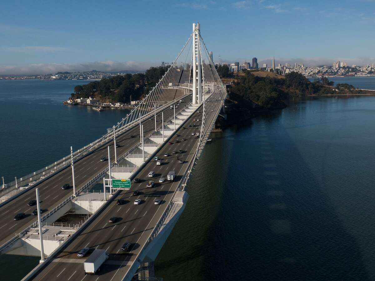 A motorcyclist was killed on the Bay Bridge after falling off a vehicle in an attempt to elude the CHP.
