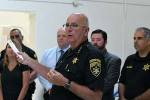 Saratoga County Sheriff Michael Zurlo holds a press conference inside a newly renovated and expanded jail unit reserved for veteran inmates and addiction services at the Saratoga County Jail on Friday, Sept.13, 2019, in Ballston Spa, N.Y.  (Will Waldron/Times Union)
