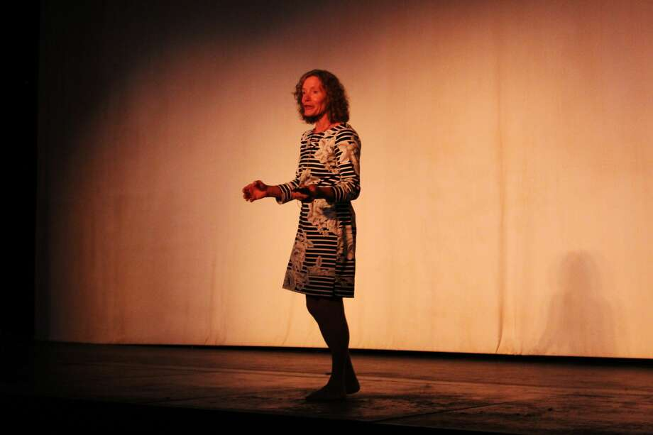 Stacy Allison, the first American woman to summit Mount Everest, spoke about her historic adventure on Sept. 12 at the Yucca Theatre. Photo: Rich Lopez/MRT