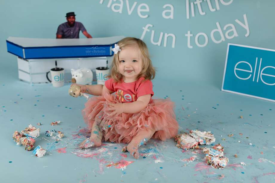 "Milford photographer Ute-Christin Cowan's ""Ellen"" cakesmash photoshoot went viral after the Ellen Show posted it on social media. Photo: Ute-Christin Photography LLC"
