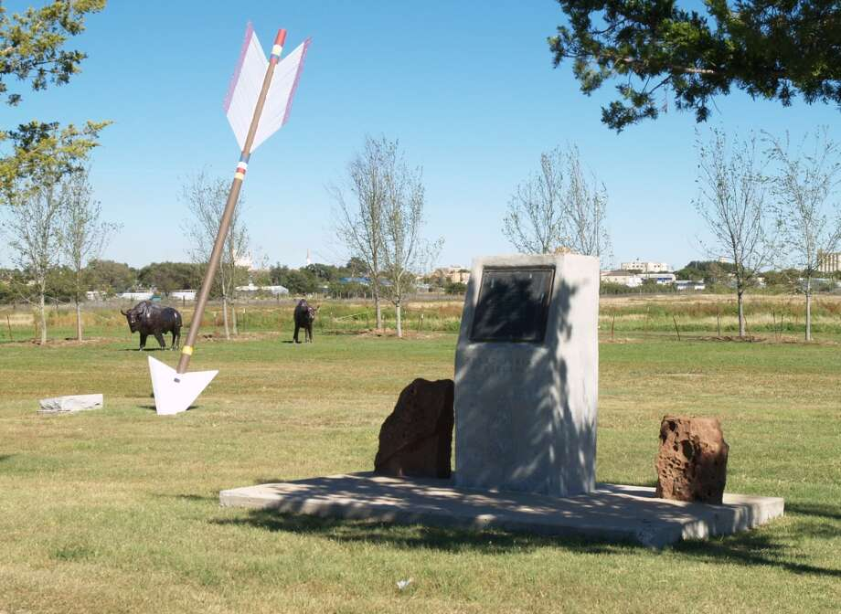 Quanah Parker Trail arrow at Bison National Historic Landmark site in Plainview Photo: Courtesy Photo/H. Humphries