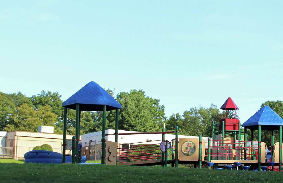 Mill Hill's playscape was one of six reopened Friday.