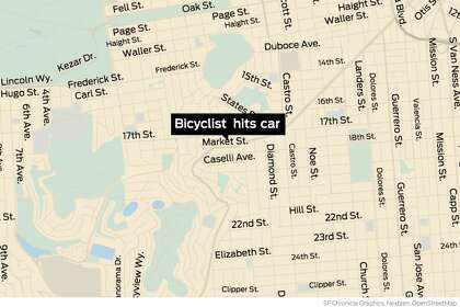 73-year-old cyclist hospitalized after collision in SF's Castro district