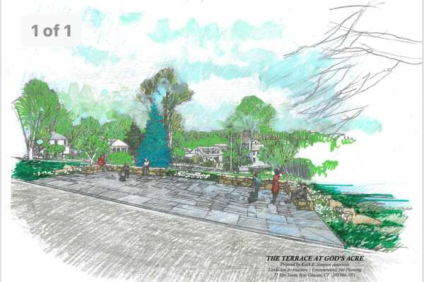 A hardscaped terrace on the top of God's Acre measuring 18 feet by 36 feet received a unanimous vote in favor by the Board of Finance, on Tuesday, Sept. 10.