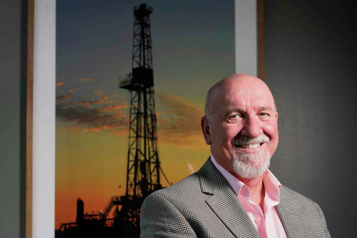 Dexter Burleigh, president, is shown at Surge Energy, 7850 N. Sam Houston Parkway West, Tuesday, Aug. 13, 2019, in Houston.