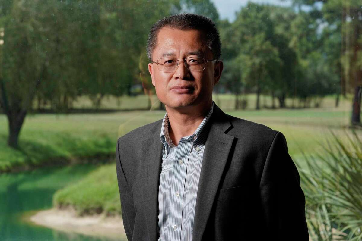 Linhua Guan, CEO, is shown at Surge Energy, 7850 N. Sam Houston Parkway West, Tuesday, Aug. 13, 2019, in Houston.