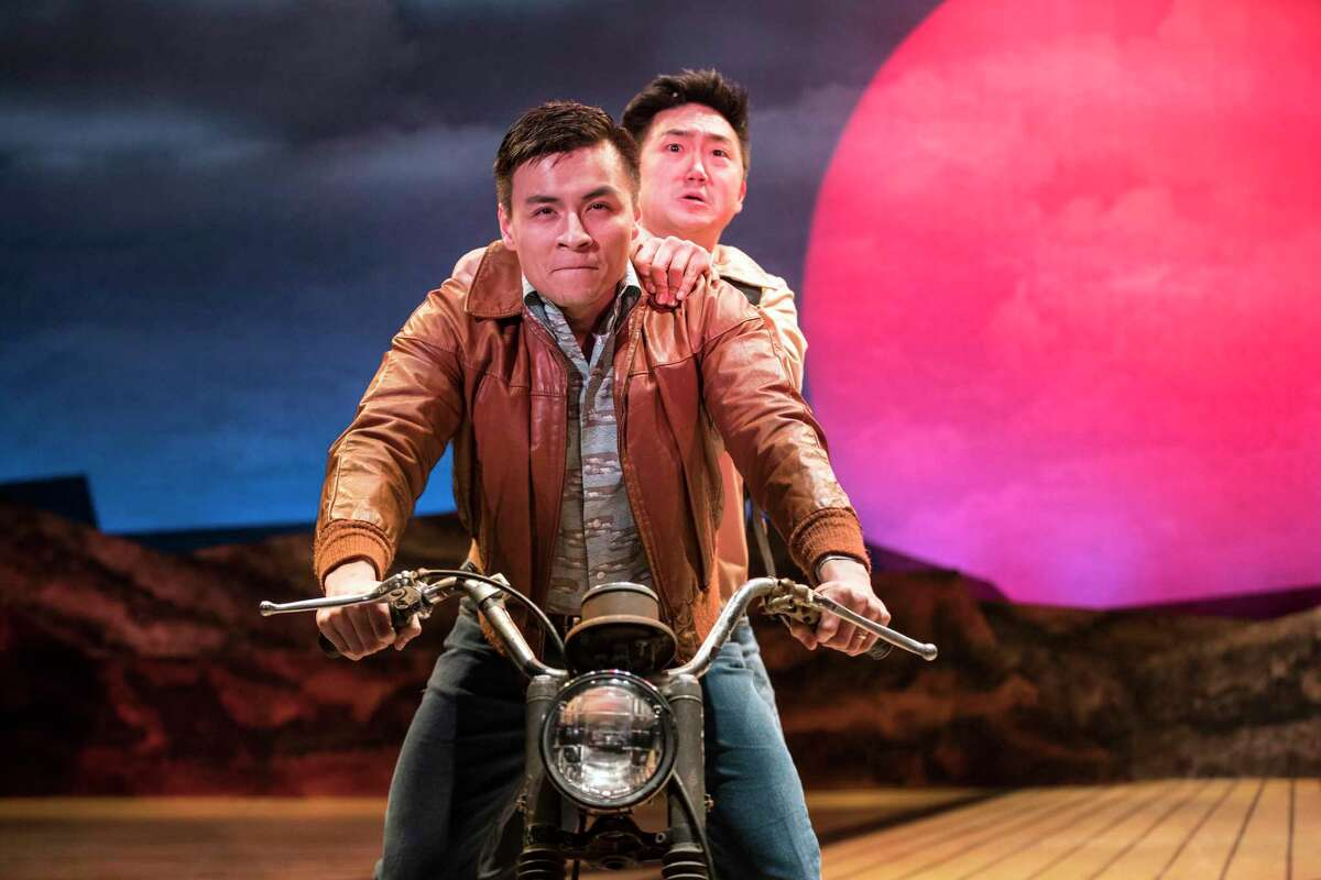 Actors David Huynh and Edward Hong in TheatreSquared's production of