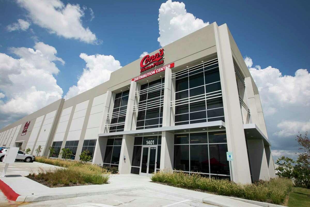 The exterior of Conn's new 657,000-square-foot multi-division distribution center on Thursday, September 12, 2019, in Houston.