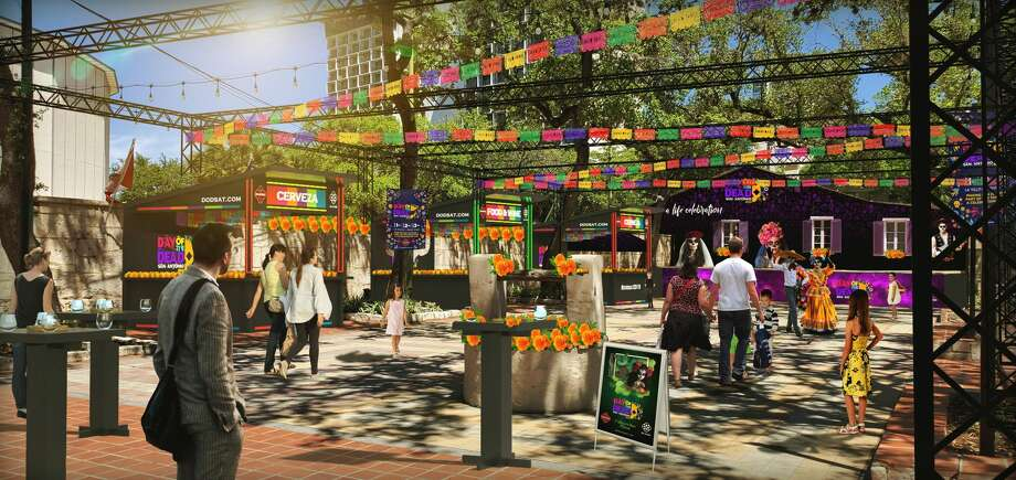 Renderings of the Día de los Muertos festival coming to San Antonio this November. Photo: Day Of Dead San Antonio