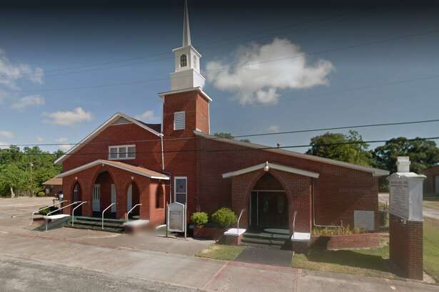 A Google Earth image of the Greater Bell Zion Missionary Baptist Church in Texas City.