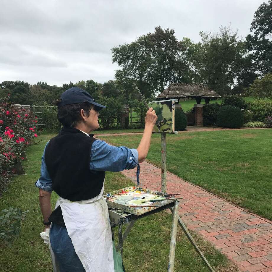 "Artists worked in Waveny Park before last year's ""Capturing Waveny"" exhibit. Artists will work outside ""Capturing New Canaan"" on Saturday, Oct 5, for an upcoming exhibit. Photo: Contributed Photo / Carriage Barn Arts Center / New Canaan Advertiser Contributed"