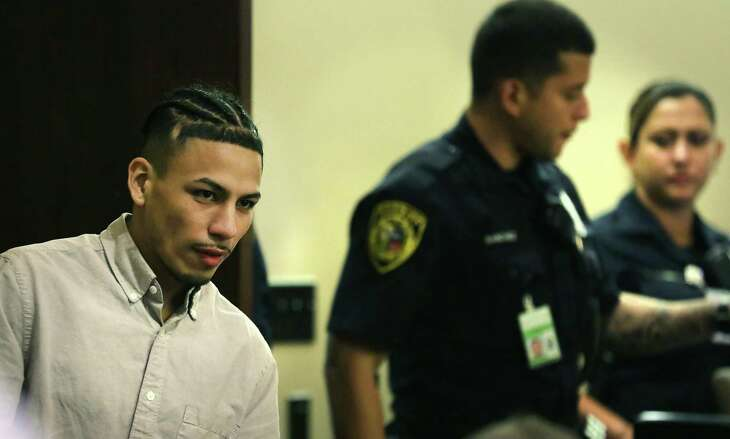 Ernesto Esquivel-Garcia he returns to the courtroom. He was found guilty of murdering Jared Vargas, in the Cadena-Reeves Justice Center on Aug. 13, 2019.