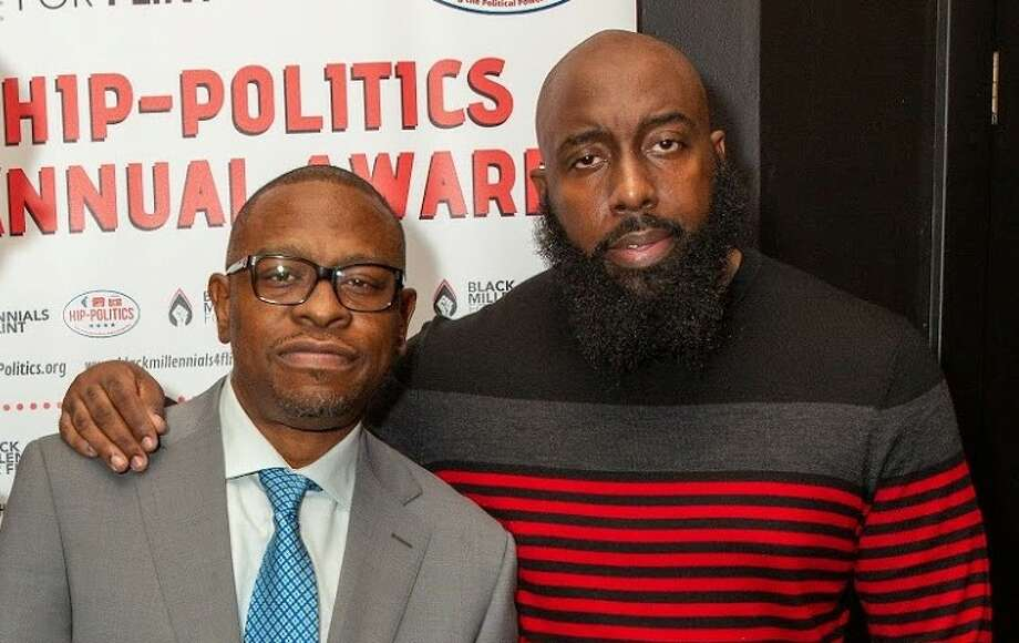 Houston's Trae Tha Truth and Scarface were honored at the Congressional Black Caucus annual conference in Washington DC for their community activism and political work. Photo: Hip-Politics