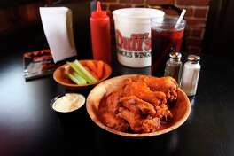 Duff's is known for the fiery heat of its wing sauce, but its barbecue sauce is also full of flavor and not too sweet.