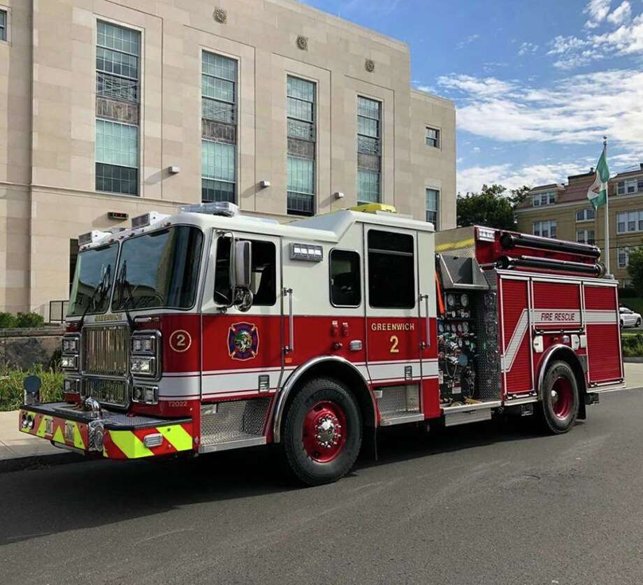 A new piece of firefighting equipment is headed to the Cos Cob fire station. Photo: / Greenwich Professional Firefighters