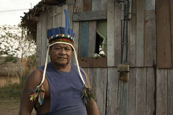 "HUMAIT�, AM - 10.09.2019: FUNAI PARTICIPA DE ENCONTRO COM IND�GENAS - Jiahui Chieftain Sebasti�o shows areas of his village used for planting food. The Cacique said he advocated the use of small-scale burning for what they call ""mo"" but said large-scale burning harms life in rivers forests. Photo taken on Tuesday afternoon (on (10), in the southern Amazon region. (Photo by Bruno Rocha/Fotoarena/Sipa USA)(Sipa via AP Images)"