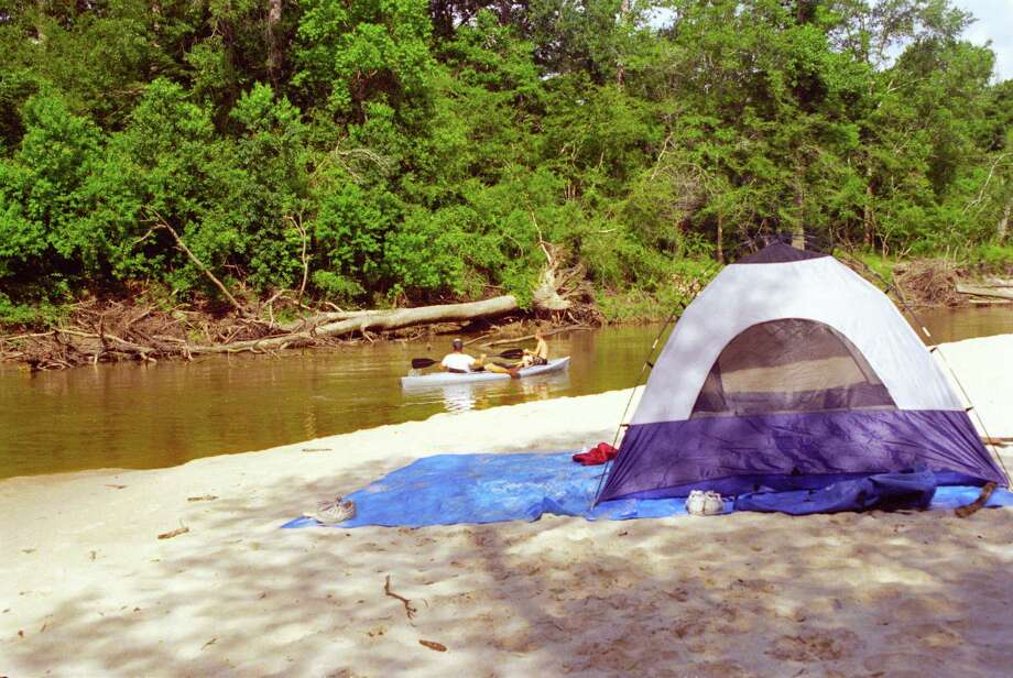 Village Creek in southeast Texas is one of the best options for an overnight float-fishing trip in late-spring/early-summer. The fish-filled waterway offers fine sandbars for camping. Photo: Shannon Tompkins / Houston Chronicle