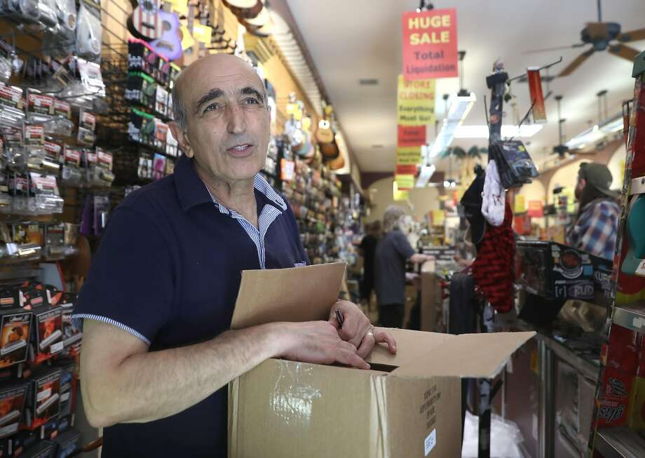 Owner Massoud Badakhshan will continue to operate Gelb Music in Redwood City and a website that will sell inventory from both stores after his San Francisco site closes next month. Photo: Liz Hafalia / The Chronicle