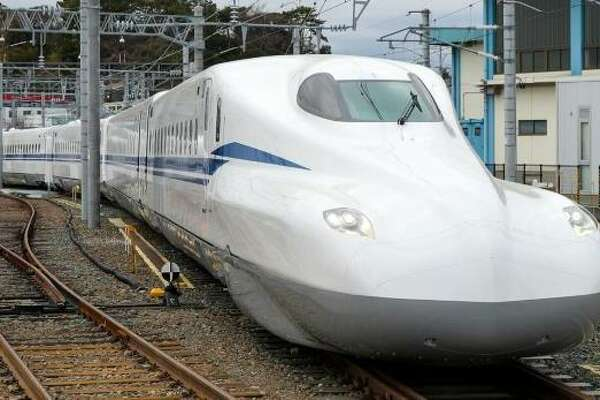 A Japanese Shinkansen 700-series train would be the same model used on the Houston-to-Dallas high-speed rail line.