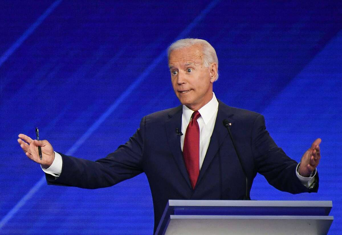 Democratic presidential hopeful Former Vice President Joe Biden speaks during the third Democratic primary debate of the 2020 presidential campaign season hosted by ABC News in partnership with Univision at Texas Southern University in Houston, Texas on September 12, 2019. (Photo by Robyn BECK / AFP) / ALTERNATIVE CROPROBYN BECK/AFP/Getty Images