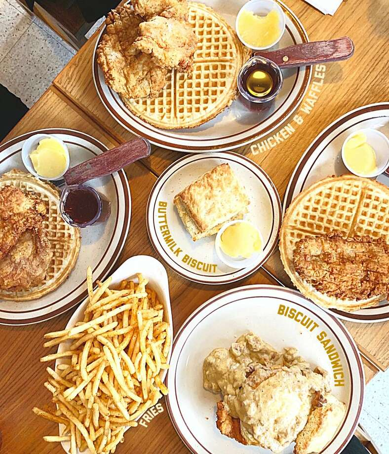 Fat's Chicken and Waffles doles out exactly what the name suggests. Keep clicking for all the other bustling bistros for brunch in Seattle. Photo: Andrea C/Yelp