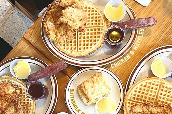 Fat's Chicken and Waffles-Mann The name is true tell-all of a quaint café that does southern fare right. From fried chicken dripping with a dousing of butter and syrup atop crispy waffles to catfish and collard greens, Fat's hasn't failed to divvy out a darn good brunch on Saturdays and Sundays from 9 a.m. to 3 p.m..