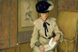 Inspiration: Frederick Carl Frieseke, Girl Reading, 1903-1904, oil on canvas