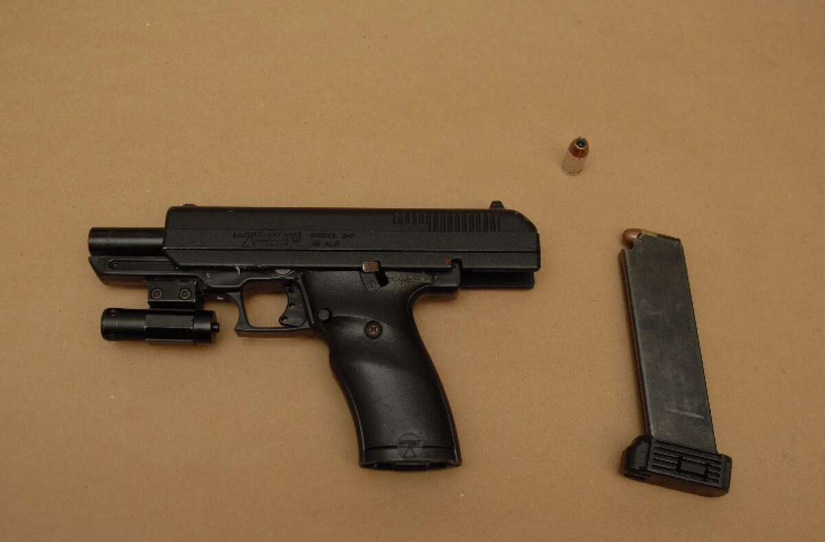 Albany police say officers found this .38 caliber handgun on the ground near the corner of North Pearl Street and Livingston Avenue on Sept. 12, 2019, in Albany, N.Y.