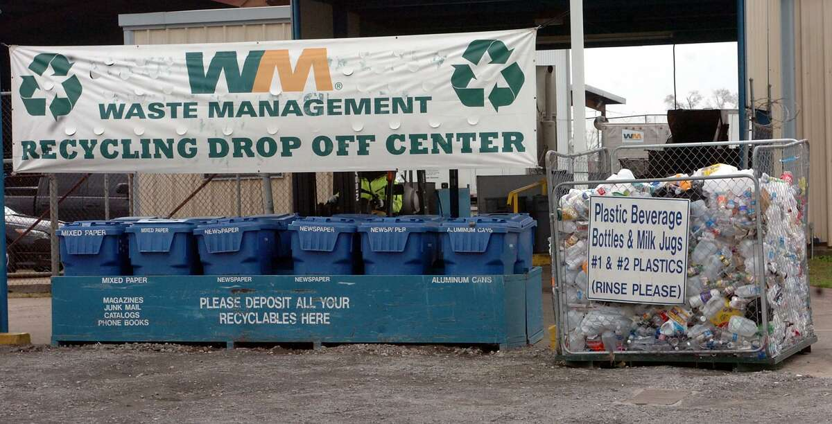The Waste Management Recycling Drop Off Center at Fourth St. and Rev. G.W. Daniels Drive in Beaumont. Pete Churton/The Enterprise