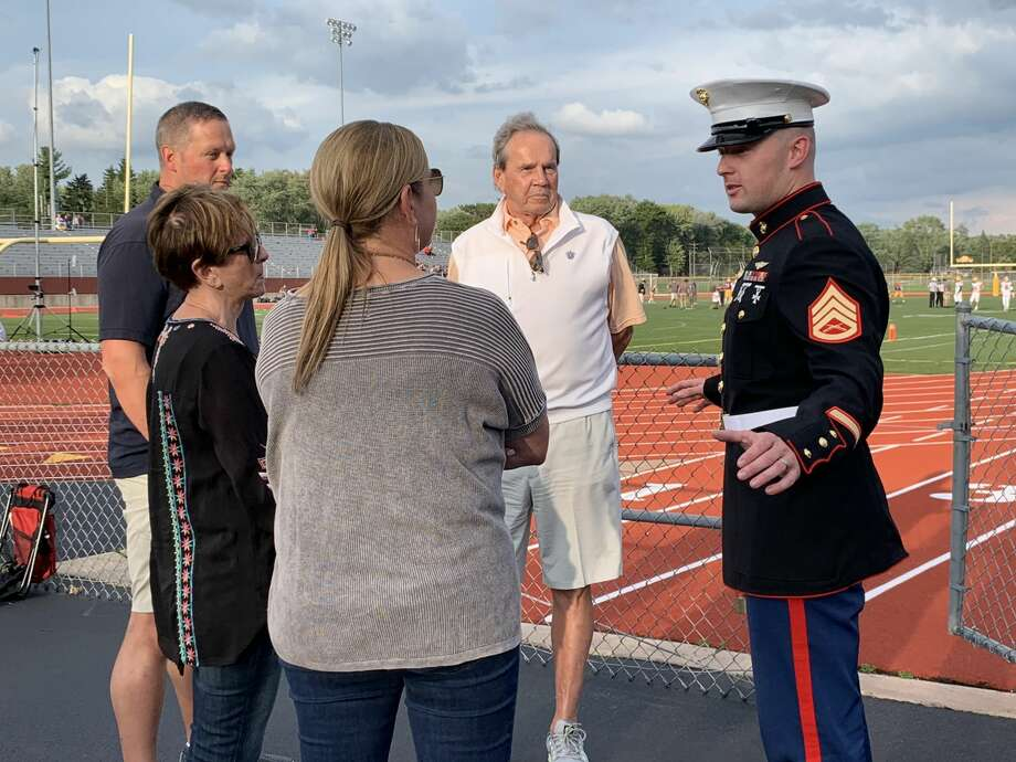 Images from Friday's Dow High Military Appreciation Night, Sept. 13, 2019. Photo: Fred Kelly/fred.kelly@mdn.net
